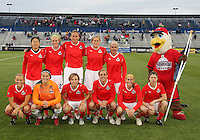 Starting eleven of the Washington Freedom during a WPS match against the Atlanta Beat on April 18 2010, at the Maryland Soccerplex, in Boyds, Maryland.