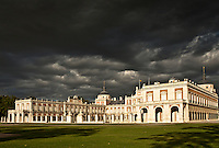 The palace of the spanish Royal family in Aranjuez. A beautiful building that attracts milions of tourists from all over the world. Sits near the Tajo river and has magnificent gardens