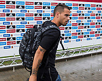 """Spainsh Jesus Joaquin Fernandez """"Suso"""" arriving at the concentration of the spanish national football team in the city of football of Las Rozas in Madrid, Spain. August 28, 2017. (ALTERPHOTOS/Rodrigo Jimenez)"""