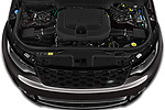Car Stock 2021 Land Rover Discovery R-Dynamic-HSE 5 Door SUV Engine  high angle detail view