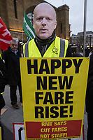 RMT-TSSA Rail Fares protest 2-1-19