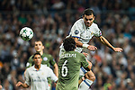 Legia Warszawa's Guilherme and Real Madrid's Kleper Lima Ferreira Pepe during the match of UEFA Champions League group stage between Real Madrid and Legia de Varsovia at Santiago Bernabeu Stadium in Madrid, Spain. October 18, 2016. (ALTERPHOTOS/Rodrigo Jimenez)