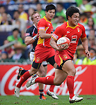 China vs Hong Kong on Day 2 of the 2012 Cathay Pacific / HSBC Hong Kong Sevens at the Hong Kong Stadium in Hong Kong, China on 24th March 2012. Photo © Victor Fraile  / The Power of Sport Images