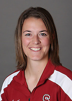 STANFORD, CA - OCTOBER 29:  Missy Penna of the Stanford Cardinal softball team poses for a headshot on October 29, 2009 in Stanford, California.