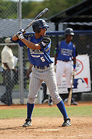 Carlos Hiciano participates in the Dominican Prospect League showcase at the New York Yankees academy on September 19,2013 in Boca Chica, Dominican Republic.