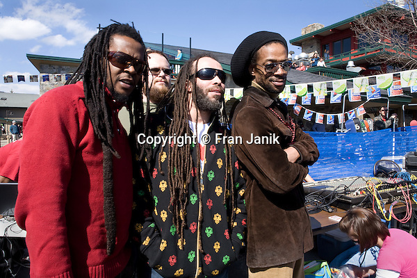 Reggae Music group SEE-I plays at the Snow Barn during the 2009 Mount Snow Reggae Festival