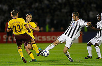 Fudbal, Champions league,Group H season 2010/2011.Partizan Vs. Arsenal.Ivan Stevanovic, right and Andrey Arshavin, left.Beograd, 29.09.2010..foto: Srdjan Stevanovic/Starsportphoto ©