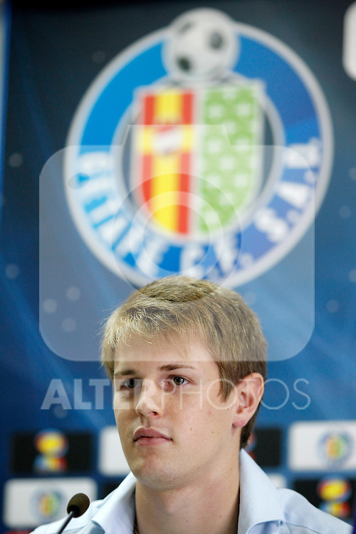 Getafe's new player Michelangelo Albertazzi during his official presentation. July 6, 2011. (ALTERPHOTOS/Acero)