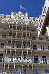 Great Britain, England, East Sussex, Brighton: Front of the Grand Hotel Brighton along the Kings Road on the seafront