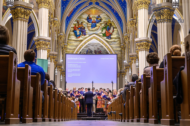 October 11, 2019; Annual Folk Choir Concert for the Missions (Photo by Matt Cashore/University of Notre Dame)