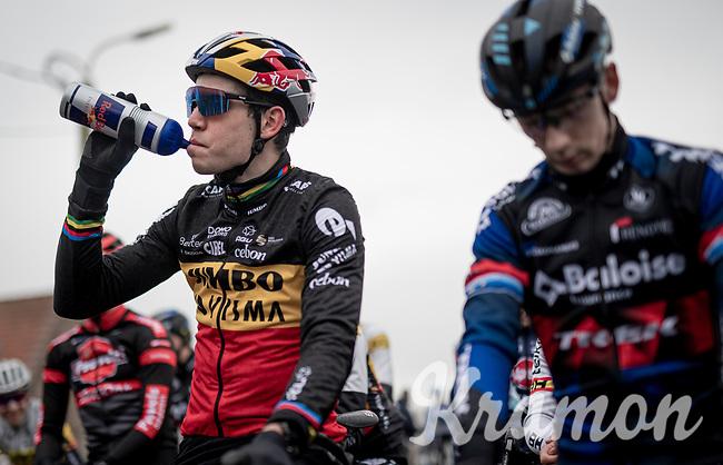 Wout van Aert (BEL/Jumbo-Visma) at te start of the 2021 Flandriencross in Hamme, Belgium ©kramon