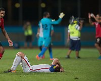 Couva, Trinidad & Tobago - Tuesday Oct. 10, 2017: Matt Besler after a Trinidad 2-1 win over the USA at the 2018 FIFA World Cup Qualifier at Ato Boldon Stadium.