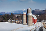 Farms with a view of the Green Mountains in Waitsfield, VT, USA