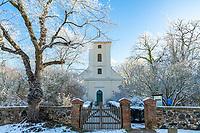 Kirche von Alt Töplitz, Insel Töplitz, Werder/Havel, Potsdam-Mittelmark, Havelland, Brandenburg, Deutschland