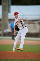 Connor Phillips during the WWBA World Championship at the Roger Dean Complex on October 19, 2018 in Jupiter, Florida.  Connor Phillips is a right handed pitcher from Magnolia, Texas who attends Magnolia West High School and is committed to Louisiana State.  (Mike Janes/Four Seam Images)