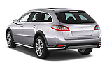 Car pictures of rear three quarter view of a 2015 Peugeot 508 RXH 5 Door Wagon 2WD Angular Rear