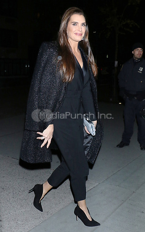 NEW YORK, NY - NOVEMBER 12:  Brooke Shields  seen arriving to the MoMA Film Benefit Honoring Laura Dern in New York City on November 12, 2019. Credit: RW/MediaPunch