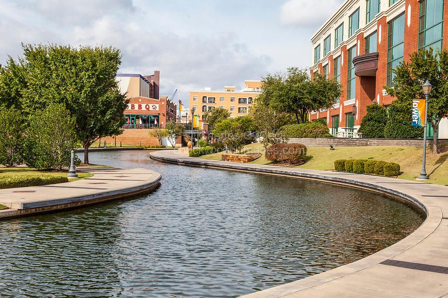 Oklahoma City, Oklahoma.  Bricktown Canal.