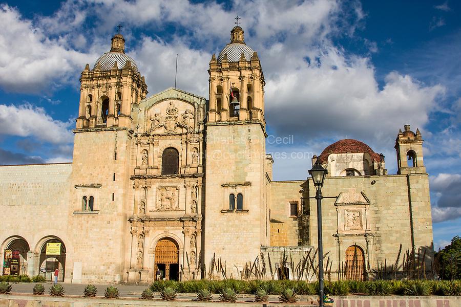 Oaxaca; Mexico; North America.  Church of Santo Domingo, built 1570-1608.  On the left is the entrance to the Museo de las Culturas de Oaxaca, the Museum of Oaxacan Culture.