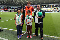 Pictured: Michu (C).<br /> Sunday 19 May 2013<br /> Re: Barclay's Premier League, Swansea City FC v Fulham at the Liberty Stadium, south Wales.