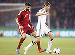 Spain's Gerand Pique (l) and Germany's Muller during international friendly match.November 18,2014. (ALTERPHOTOS/Acero)
