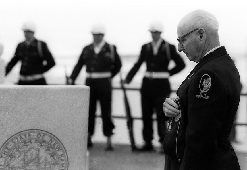 Roland Paige and other veterans, Memorial Day, Hampton Beach, New Hampshire..Photograph by Peter E. Randall.