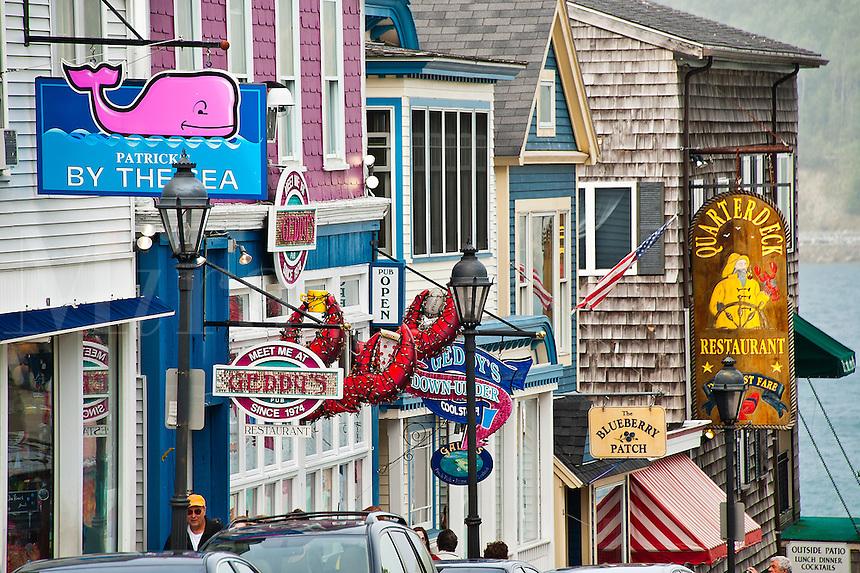 Main Street, Bar Harbor, ME, Maine, USA