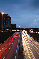 The M8 Motorway and the Kingston Bridge at rush hour, St Vincent Street, Glasgow<br /> <br /> Copyright www.scottishhorizons.co.uk/Keith Fergus 2011 All Rights Reserved