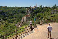 Balcon avec vue sur Rocamadour, point de vie par l'acces haut