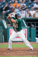 Felix Castillo (14) of the Greensboro Grasshoppers at bat against the Greenville Drive at NewBridge Bank Park on August 17, 2015 in Greensboro, North Carolina.  The Drive defeated the Grasshoppers 5-4 in 13 innings.  (Brian Westerholt/Four Seam Images)
