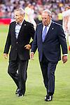 Paco Gento and Raymond Kopa during the XXXVII Santiago Bernabeu Trophy in Madrid. August 16, Spain. 2016. (ALTERPHOTOS/BorjaB.Hojas)