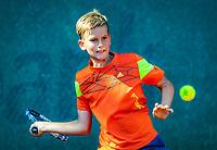 Hilversum, Netherlands, August 6, 2018, National Junior Championships, NJK, Lewie Bouman (NED)<br /> Photo: Tennisimages/Henk Koster