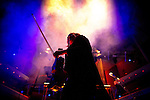 """© Joel Goodman - 07973 332324 . 05/02/2016 . Manchester , UK . The orchestra takes to the stage . """" Hacienda Classical """" debut at the Bridgewater Hall . The 70 piece Manchester Camerata and performers including New Order's Peter Hook , Shaun Ryder , Rowetta Idah , Bez and Hacienda DJs Graeme Park and Mike Pickering mixing live compositions . Photo credit : Joel Goodman"""