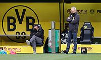 16th May 2020, Signal Iduna Park, Dortmund, Germany; Bundesliga football, Borussia Dortmund versus FC Schalke;   BVB Trainer Lucien Favre and BVB Sporting director Michael Zorcand in a mask