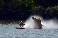 Frame 11: 40-M rides up the rooster tail of 20-M    (Outboard Hydroplane)