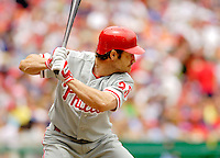 11 June 2006: David Bell, third baseman for the Philadelphia Phillies, at the plate during a game against the Washington Nationals at RFK Stadium, in Washington, DC. The Nationals shut out the visiting Phillies 6-0 to take the series three games to one...Mandatory Photo Credit: Ed Wolfstein Photo..