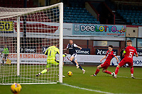 19th December 2020; Dens Park, Dundee, Scotland; Scottish Championship Football, Dundee FC versus Dunfermline; Christie Elliott of Dundee fires in a shot