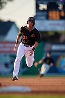Batavia Muckdogs Nic Ready (51) running the bases during a NY-Penn League game against the West Virginia Black Bears on June 25, 2019 at Dwyer Stadium in Batavia, New York.  Batavia defeated West Virginia 7-3.  (Mike Janes/Four Seam Images)