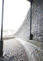 Pictured: The promenade wall in Aberystwyth.<br /> Re: A man who killed a hotel guest after setting fire to his hotel, by lighting curtains and a linen cupboard, is due to be sentenced by Swansea Crown Court.<br /> 31 year old Damion Harris, of Llanbadarn Fawr, west Wales, admitted the manslaughter of Juozas Tunaitis, arson and inflicting grievous bodily harm.<br /> Belgrave House Hotel (Ty Belgrave Hotel) in Aberystwyth, Ceredigion was burned down in July 2018