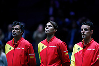 Rafael Nadal of Spain  against Rafael Nadal of Spain during Day 2 of the 2019 Davis Cup at La Caja Magica on November 19, 2019 in Madrid, Spain. (ALTERPHOTOS/Manu R.B.)<br /> Tennis Davis Cup 2019 <br /> Coppa Davis<br /> Foto Alterphotos / Insidefoto <br /> ITALY ONLY