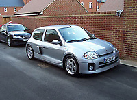 BNPS.co.uk (01202) 558833. <br /> Pic: Bonhams/BNPS<br /> <br /> A souped-up Renault Clio that once earned Jenson Button a ticking off from race organisers has emerged for sale for an incredible £42,000.<br /> <br /> The 2009 F1 World Champion drove the V6 hatchback at the Goodwood Festival of Speed in West Sussex in 2001.<br /> <br /> After racing it up the famous hill, Button treated the crowd to some donuts, leading to a stern telling off from a nearby marshal.