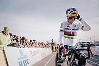 Wout van Aert (BEL/Cibel-Cebon) at the start<br /> <br /> Men Elite + U23 race<br /> Superprestige Ruddervoorde 2018 (BEL)