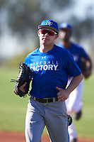 Jason Luke (47), from Salt Lake City, Utah, while playing for the Dodgers during the Under Armour Baseball Factory Recruiting Classic at Red Mountain Baseball Complex on December 29, 2017 in Mesa, Arizona. (Zachary Lucy/Four Seam Images)