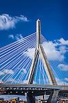 The Leonard P. Zakim Bunker Hill Bridge in Charlestown, Boston, Massachusetts, USA