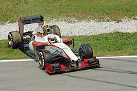 Indian Narain Karthikeyan off track on HRT Cosworth F112.24/03/2012 Grand Prix Malesia, Sepang , Essais..Foto Insidefoto  /Bernard Asset / Panoramic.ITALY ONLY..