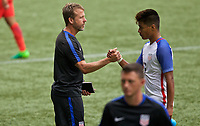 Portland, OR - Saturday August 12, 2017: John Hackworth, Bryan Reynolds, Jr. during friendly match between the USMNT U17's and Chile u17's at Providence Park in Portland, OR.
