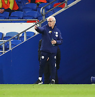 16th March 2021; Cardiff City Stadium, Cardiff, Glamorgan, Wales; English Football League Championship Football, Cardiff City versus Stoke City; Mick McCarthy, Manager of Cardiff City gives instructions to players during the second half