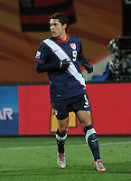 Forward Herculez Gomez was an 80th minute substitute. The United States came from a 2-0 halftime deficit to Slovenia to earn a 2-2 draw their second match of play in Group C of the 2010 FIFA World Cup.