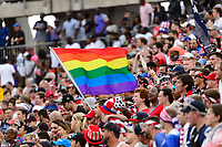 East Hartford, CT - Saturday July 01, 2017: Fans during an international friendly match between the men's national teams of the United States (USA) and Ghana (GHA) at Pratt & Whitney Stadium at Rentschler Field.