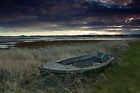 Wooden Boat at dawn, Aberlady Bay, Aberlady, East Lothian